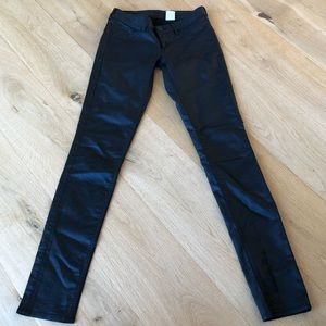 Skinny Low Rise faux leather skinny pants